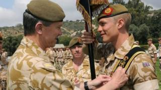 Brigadier Mike Griffiths and his son Captain Andrew Griffiths
