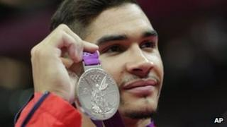 Louis Smith with 2012 silver medal