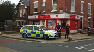 Post office which was robbed in Lady Bay