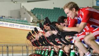 British cyclists using Wattbikes
