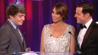 Ben receiving his award