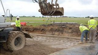 Work taking place at Guernsey Airport