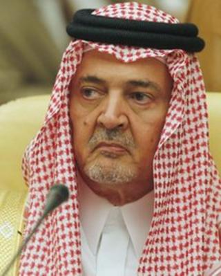 Saudi Arabia's foreign minister Saud al-Faisal