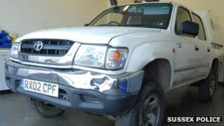 The stolen Toyota Hilux
