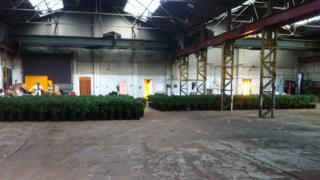 Police at Woodilee Industrial Estate