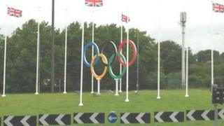 Olympic rings in Coventry