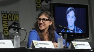 Mayim Bialik at Comic Con