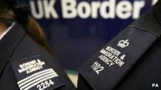 UK Border Agency officials