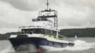 Hampshire police marine unit's flagship vessel Commander