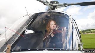 Violinist Jennymay Logan