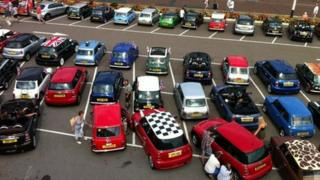 Minis gathered in Bexhill