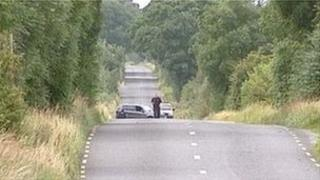 Scene of crash in Roscommon where a teenager died