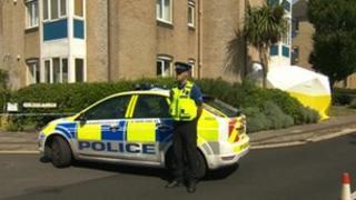 Murder scene at Ocean Village in Southampton