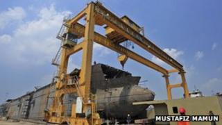 Western Marine Shipyard in Chittagong