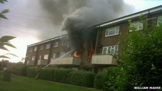 The fire in Welton Gardens