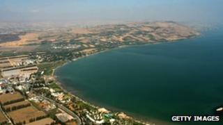 Sea of Galilee aerial shot, file picture