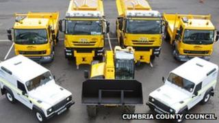 County Council vehicles