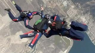 The BLESMA Trans4mers - the UK's first amputee skydive formation team
