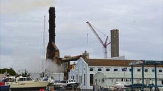 Crane at Guernsey Electricity