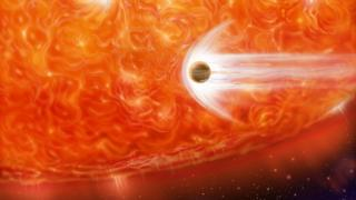 Artist's impression of a planet's destruction