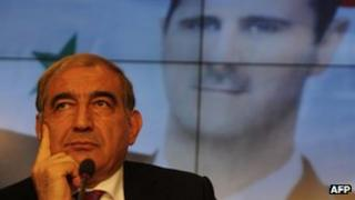 Qadri Jamil, Syria's deputy prime minister, speaks during a news conference in Moscow, August 21, 2012