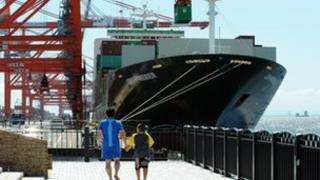 International cargo terminal in Tokyo
