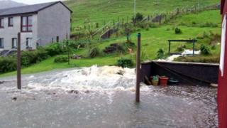 Shetland landslip