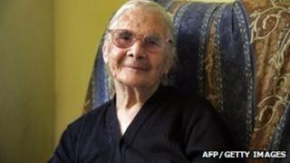 Consolata Melis celebrates her 105th birthday (File)