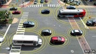 """""""Talking"""" vehicles graphic"""