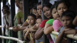 Assam displaced Bodos in August 2012