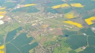 Aerial view of Alconbury site