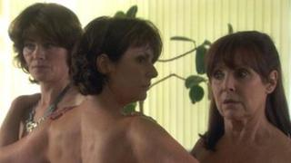 A scene from Doctors, in which cast members got naked for a good cause