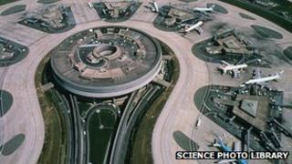 Terminal buildings at Charles De Gaulle airport, Paris (file image)
