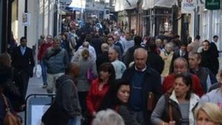 Shoppers in St Helier