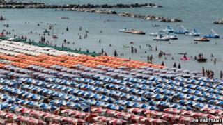 Beach on the Riviera Romagnola