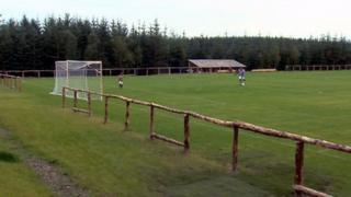 The pitch has been created among a spruce tree forest in the Borders