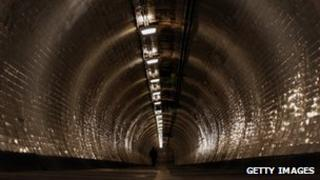 The Greenwich Foot Tunnel in south-east London
