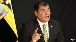 Ecuadorean President Rafael Correa