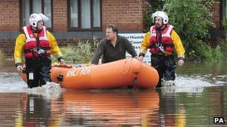 RNLI crews rescue a resident of Morpeth, Northumberland