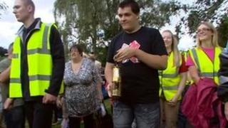 The Paralympic Flame arrives in Cannock