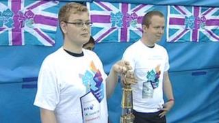 Paralympic flame at John Charles Centre