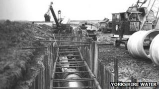 Pipe laying at Driffield in 1959