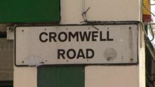 The 25-year-old victim was stabbed in the neck at Cromwell Road