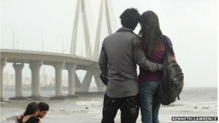 A couple in Mumbai