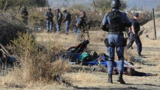 South African miners killed by police