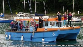 MV Freedom with Paralympic flame
