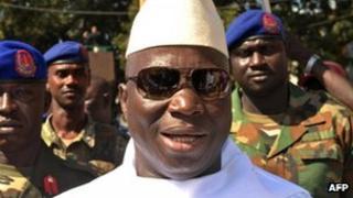 Gambia's President Yahya Jammeh in November 2011