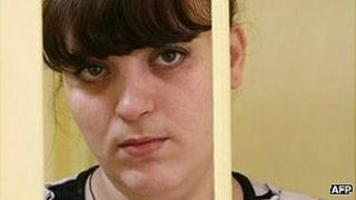 Taisiya Osipova on trial in the city of Smolensk