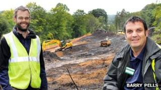 Phil Bolam (left) project manager for the National Trust and Mick Wilkes, from Gibside at the site of the new car park