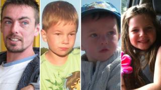 Ewen Beaton, sons Ewen and Jamie, and Gracie Mackay